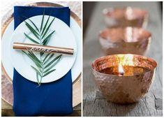 Wedding Ideas // Metallic decoration // Copper #wedding