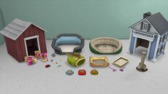 Cats & Dogs Stuff Beds, houses, bowls, the scratching post, the litter box and the pet toy crate are all functional. Bowls have no animation. The rest are only clutter. Sims 4 Mods, Sims 2 Pets, Sims 4 Cc Folder, Around The Sims 4, Play Sims 4, Sims 4 Clutter, Sims Four, Sims Games, Sims 4 Cc Furniture