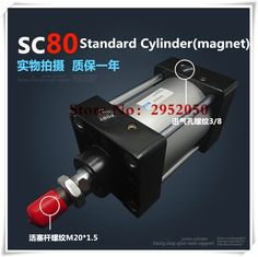 163.37$  Watch here - http://aliv75.shopchina.info/1/go.php?t=32798954324 - SC80*1000 Free shipping Standard air cylinders valve 80mm bore 1000mm stroke single rod double acting pneumatic cylinder  #magazineonline