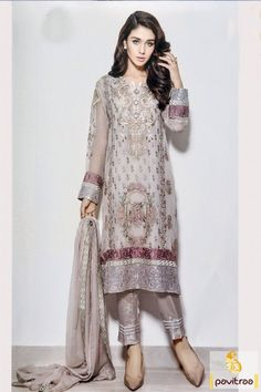 Get your favorite and most awaited Baroque Chiffon , a leading name in Pakistani Fashion industry and increase your Dresses Collection with Pakistan Clothes 2015 from the leading Online Shopping portal of Pakistan. Latest Pakistani Fashion, Pakistani Outfits, Indian Outfits, Indian Fashion, Pakistani Couture, Pakistani Salwar Kameez, Kurti, Anarkali, Shalwar Kameez