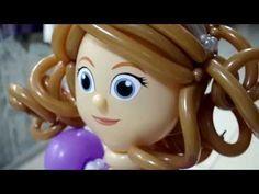 Искусство Аэродизайна. Урок №20. Кукла из воздушных шаров. Часть 1. Лицо, волосы, глаза - YouTube