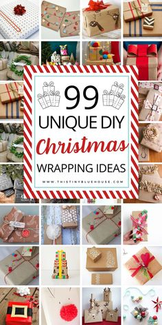 Stun friends and family with these gorgeous creative gift wrap ideas. Set your gifts apart with these budget friendly 90  DIY Holiday Wrapping Ideas! #ChristmasWrapping #ChristmasWrappingIdeas #ChristmasWrappingDIY #DIYChristmasWrappingPaper #DIYChristmasWrappingPaperTags #DIYChristmasWrappingPaperGiftBags