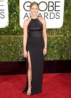 Jennifer Aniston vestindo Saint Laurent - Golden Globes 2015 – Inspirações | DRESS A PORTER – BLOG