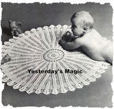 Instant Download PDF Crochet Pattern to make a Circular Fine Baby Shawl, Baby Blanket Crochet, Crochet Baby, Free Crochet, Crochet Blankets, Baby Blankets, Baby Knitting Patterns, Crochet Patterns, Crochet Ideas