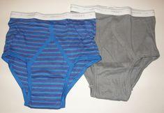 705ae8de1a2 NEW 2 Pair Vintage Mens Y Front JOCKEY Classic Brief Underwear Stripes 34  NOS  Jockey
