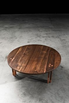 Canfield Coffee Table by AntonMakaDesigns Solid Walnut w/ Copper Inlay  CUSTOM SIZING AVAILABLE