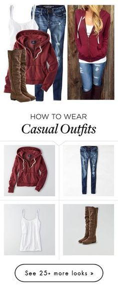 """Casual outfit"" by karen-bachman on Polyvore featuring American Eagle Outfitters"