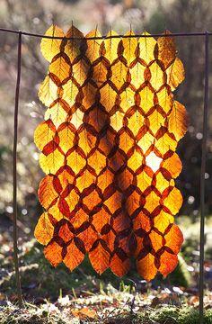 Beautiful leaf mosaic.