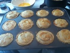 low sodium pot pies in muffin tins