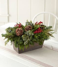 Find the best Woodland Canella Berry Centerpiece, Large at L. Our high quality home goods are designed to help turn any space into an outdoor-inspired retreat. Christmas Planters, Christmas Greenery, Woodland Christmas, Christmas Flowers, Farmhouse Christmas Decor, Rustic Christmas, Christmas Holidays, Christmas Wreaths, Christmas Crafts