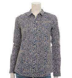 Maison Scotch blouse met een all over print - Blauw dessin - NummerZestien.eu