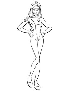 Pretty Girl X Men Coloring Page | Free Printable Coloring Pages