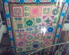 Embroidered quilt blocks by Thimblequilts2 on Etsy