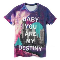 Destiny City Print Boyfriend T-Shirt ($18) ❤ liked on Polyvore featuring tops, t-shirts, print top, boyfriend tops, print t shirts, boyfriend tank top and boyfriend t shirt