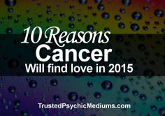 What does 2015 hold for Cancer when it comes to love and romance? Find out more in my exclusive report into the love prospects of Cancer in 2015 and beyond. Cancer Zodiac Sign.