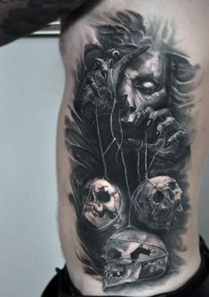 50 Gothic Tattoos For Men Dark Body Art Design Ideas Hello! Here we have nice picture about goth tattoo designs. We hope these photos can b. Dark Tattoos For Men, Simple Tattoos For Guys, Arm Tattoos For Guys, Tattoo Girls, Black And Grey Tattoos, Unique Tattoos, Evil Tattoos, Creepy Tattoos, Skull Tattoos