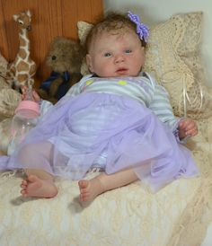 Reborn Baby Doll Awake Baby Sweet Gabriel Kit Fagan |