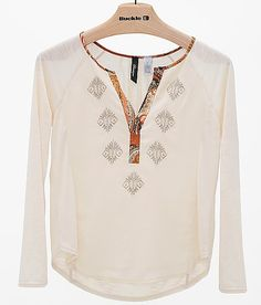 BKE Boutique Pieced Top - Women's Shirts/Tops | Buckle