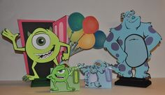 Monsters Inc Birthday party center piece by cricflix on Etsy, $15.00