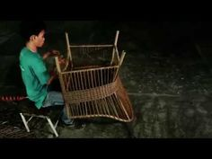 Watch this clever time lapse video of a Rattan Garden Chair being made.