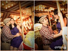 Engagement Session inspired by The Notebook #carousel #fair #carnival