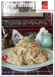 Spicy and Sour Shredded Potatoes (醋溜土豆丝)    #guaishushu #kenneth_goh    #potatoes