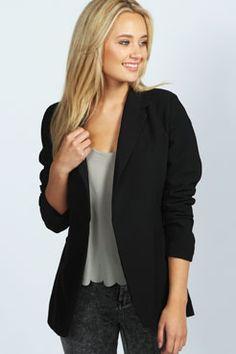 Sasha Fitted Longline Blazer at boohoo.com