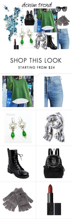 """""""Cozy winter outfit."""" by nataly-rotbart ❤ liked on Polyvore featuring Rob Wynne, RE/DONE, Steve Madden, Gucci, denimtrend and widelegjeans"""