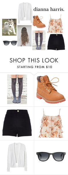 """dianna harris."" by candidsunflowers ❤ liked on Polyvore featuring Timberland, River Island, Rebecca Taylor and Jimmy Choo"