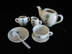 Your place to buy and sell all things handmade Vintage Crockery, Holly Hobbie, American Greetings, Side Plates, Milk Jug, Sugar Bowl, Tea Set, China, Tableware