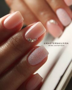Ombre Nail Designs That You Have to Try This Summer French Ombre Nails with Gold Glitter;French Ombre Nails with Gold Glitter; Bridal Nails Designs, Wedding Nails Design, Ombre Nail Designs, White Nail Designs, Nail Art Designs, Bridal Nail Art, Faded Nails, Gold Nails, Gold Glitter