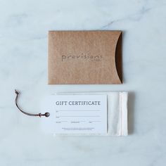gift card, rustic + minimal