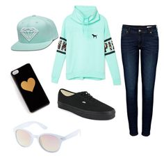 Cute outfit for teen girls by krspillman on Polyvore featuring Victoria's Secret PINK, Anine Bing, Vans and Charlotte Russe