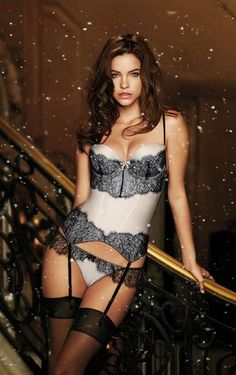 Simply lovely, the lingerie, the lighting, and the lady.