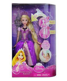 Another great find on #zulily! Rapunzel Glitter & Lights Doll #zulilyfinds