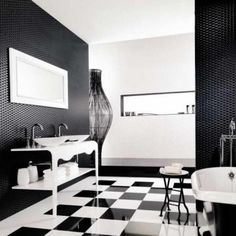 Find This Pin And More On Decora O The Combination Of Black And White Bathroom