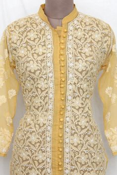 19 Ideas Sewing Patterns Dresses Website For 2019 Lucknowi Suits, Chikankari Suits, Kurta Patterns, Dress Sewing Patterns, Kurta Designs, Blouse Designs, Collar Designs, Pakistani Dresses, Indian Dresses