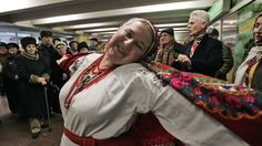 Ukrainians sing and dance in a subway in downtown Kiev in It has been a tradition for 20 years. Metro Station, Central Asia, Sociology, Just For Fun, Crowd, Singing, Dance, Songs, 20 Years