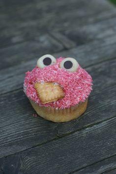 pink Krümmelmonster Cupcake