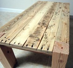 Parsons Pallet Wood Coffee Table by RAWfurniture on Etsy