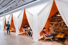 Conversation nooks at Airbnb • The Next Hot Thing in Cool Office Design   http://Inc.com