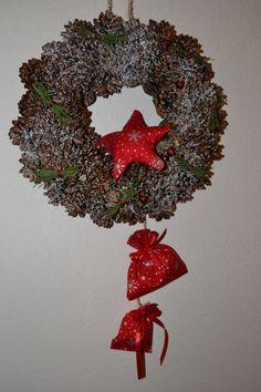 Věnec na dveře - Vánoční hvězda