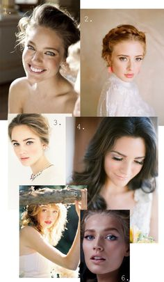 Natural wedding makeup inspiration via Plum Tree Weddings