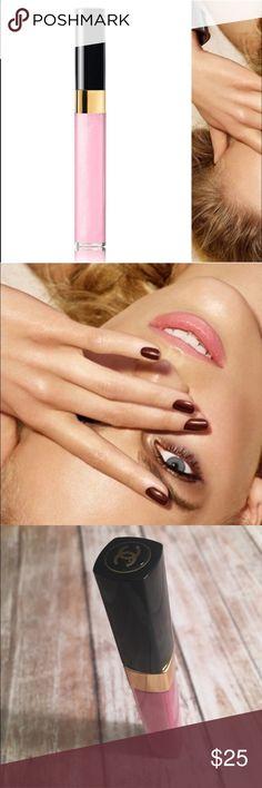 Chanel lip gloss shade 02 Brand new. Never used. Chanel 02 brilliance lip gloss CHANEL Makeup Lip Balm & Gloss