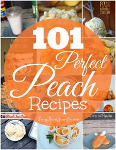 101 Perfect Peach Recipes on BusyBeingJennifer. #summer #recipes #reciperoundup #peachrecipes #yummy #Summerrecipes