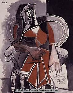"""Pablo Picasso - """"Woman sitting in a chair III"""", 1960"""