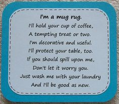 Best embroidery machine table mug rugs 68 ideas Mug Rug Patterns, Quilt Patterns, Canvas Patterns, Sewing Patterns, Sewing Hacks, Sewing Crafts, Sewing Ideas, Sewing Tips, Fabric Crafts