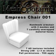 Meshopotamia Empress Armless Chair W AO textures