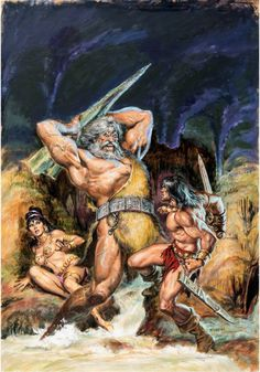 Original cover painting by Earl Norem from The Savage Sword... Original cover painting by Earl Norem from The Savage Sword of Conan #28 published by Marvel Comics April 1978.