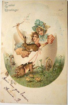 Beautiful vintage Easter card